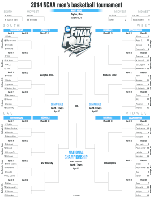 Ncaa Bracket Typable - Fill Online, Printable, Fillable, Blank ...