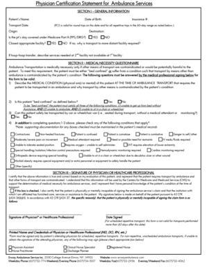 Fillable Online Physician Certification Statement Form ONLINE FILL ...