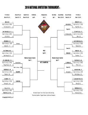 picture about Printable Nit Bracket identified as Fillable Nationwide Invatation Event Brackets - Fill