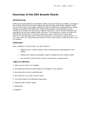 Online growth fillable growth chart form