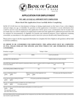 bank of guam job application fill online printable