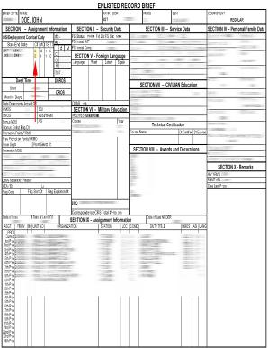 Fillable Online media iava DA Form 4037 (Record Brief) HR ...