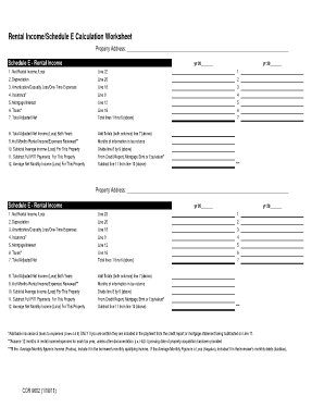Printables Hud Rent Calculation Worksheet schedule e calculator form fill online printable fillable blank calculator