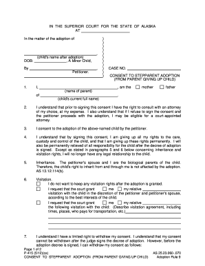 texas stepparent adoption forms step parent adoption papers Forms and Templates - Fillable ...
