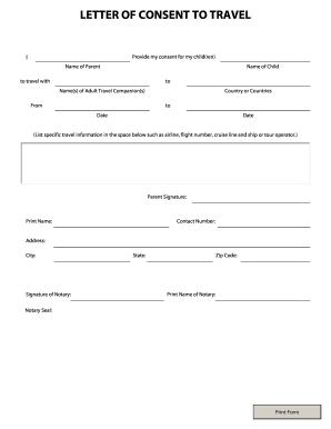 parental consent letter for passport application