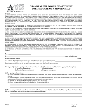 Power Of Attorney Childpdffillercom - Fill Online, Printable ...