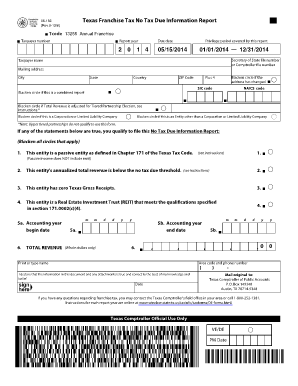 Texas franchise tax report 2011 form