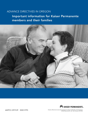 Advance Directive - Kaiser Permanente Northwest hospital care and ...
