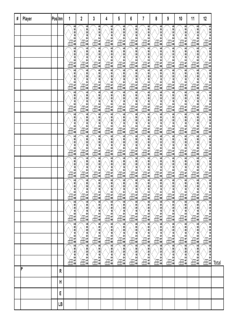picture regarding Printable Baseball Scorebook referred to as Baseball Scorecard Blank Printable - Fill On the internet, Printable