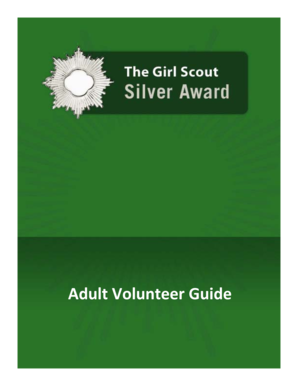 Fillable Online girlscouts The Girl Scout Silver Award - Adult ...