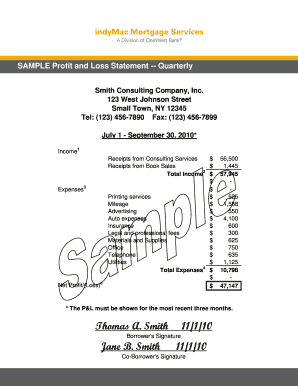 Profit And Loss Statement Form Pdf  Loss Profit Statement