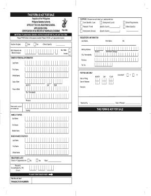 Cenomar Sample Form Fill Online Printable Fillable Blank