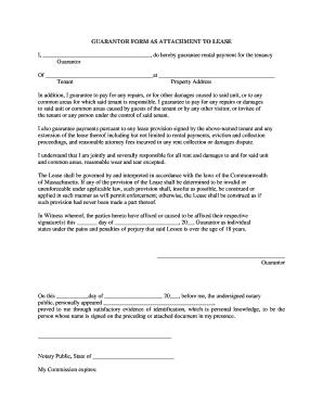 Guarantor Form - Fill Online, Printable, Fillable, Blank | PDFfiller