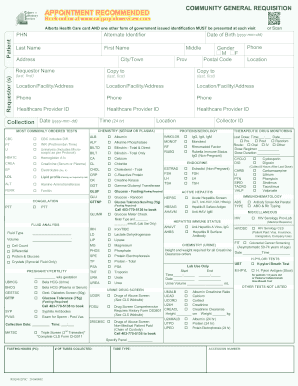 Fillable Online COMMUNITY GENERAL REQUISITION - Calgary Laboratory on medical renewal form, medical triangle, medical check form, medical authorization form, medical affidavit form, medical reimbursement form, medical application form, medical certification form, medical transfer forms, medical label, medical review form, medical appointment form, medical release form, medical panel, medical certificate form, medical claim form, medical expense form, medical grievance form, medical registration form, medical receipt form,