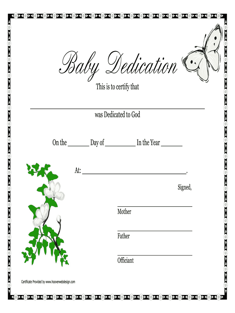 image about Printable Baby Dedication Certificate identify Boy or girl Perseverance Certification Document - Fill On the net, Printable