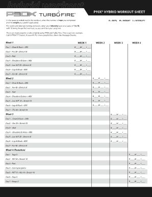 P90X HYBRID WORKOUT SHEET - Team Beachbody
