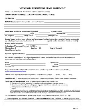 Bill Of Sale Form Minnesota Sublease Agreement Form