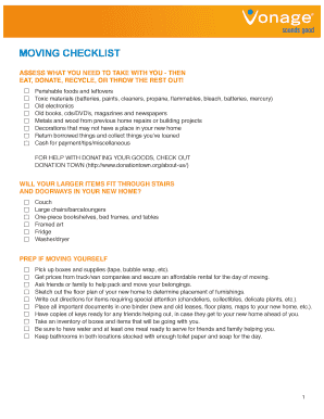 graphic regarding Printable Moving Checklist and Planner titled Fillable printable relocating packing listing - Down load
