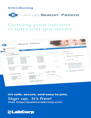 Lab Corp Beacon Fill Online Printable Fillable Blank Pdffiller