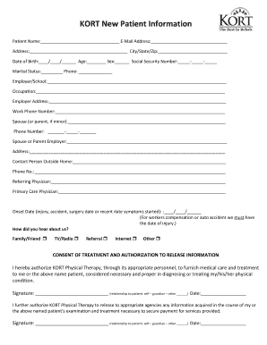 patient forms template