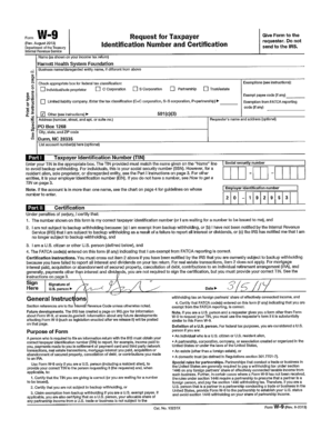 Form W9 Request for Taxpayer  Connecticut