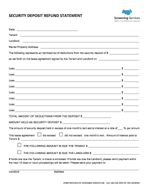 Security deposit refund form fill online printable fillable security deposit refund form altavistaventures Images