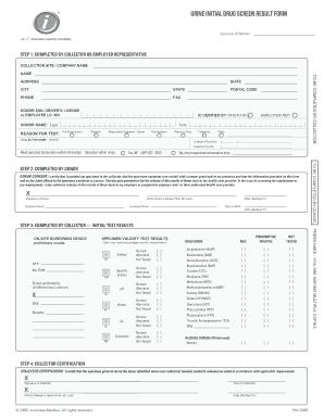 Fillable Drug Test Results Form Fill Online Printable Fillable Blank Pdffiller