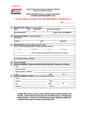 Bill Of Sale Form North Carolina Vehicle Bill Of Sale Templates ...