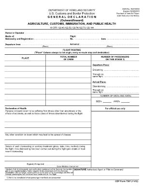 Fillable Online cbp CBP Form 7507.pdf - US Customs and Border ...