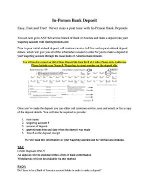 Fillable bank of america salary teller - Edit, Print