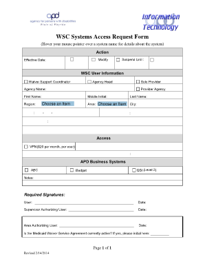 Bank system access request form fill online printable for Vpn access request form template