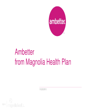 Fillable Online Ambetter Magnoliahealthplan Com Fax Email Print