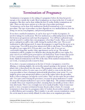 Fillable Online mydoctor kaiserpermanente Termination of Pregnancy ...