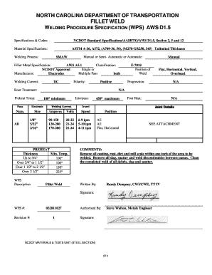 Fillable Online Wps For Fillet Joint pdf - pdfslibforme com Fax
