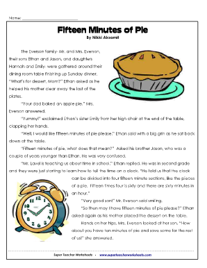 fifteen minutes of pie pdf form