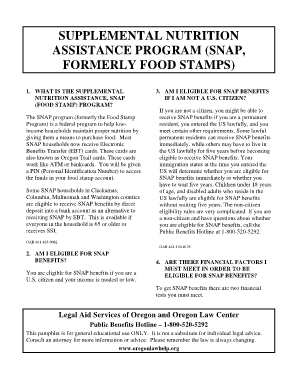 Food Stamps Washington Report A Change