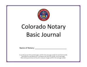 Fillable Online sos state co Copy of Sample Notary Journal