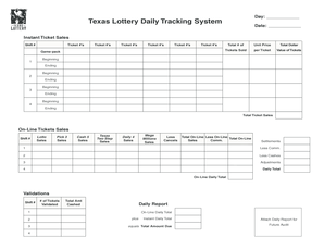 daily lottery faxes form