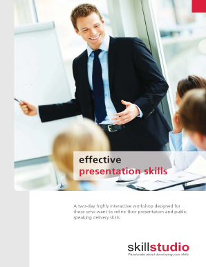 Download our Effective Presentation Skills brochure - Skillstudio