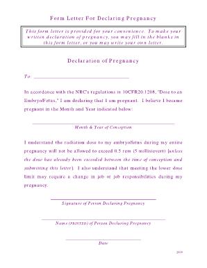 Pregnancy Verification Letter Tekil Lessecretsdeparis Co