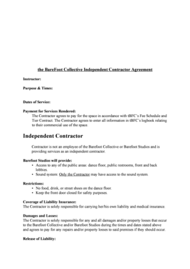7 Printable Sample Contract Agreement For Services Rendered Forms