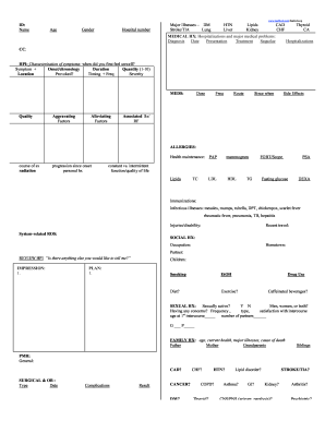 Fillable Online Detailed H&P Sheet - Medfools Fax Email Print ...