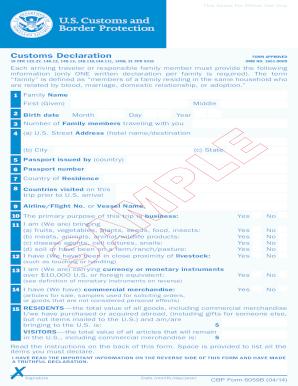 U s customs declaration form fill online printable fillable u s customs declaration form altavistaventures Gallery