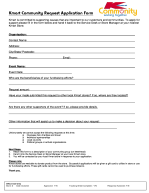 kmart donation request form