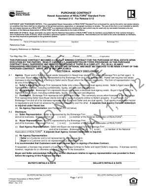 Hawaii Assoc Of Realtors Purchase Contract Rr201 - Fill Online ...