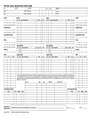 Soccer Stats Sheet Form. Baseball Scorecard Form