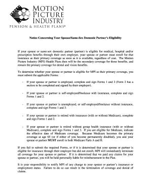 Printable spouse insurance coverage letter - Edit, Fill ...