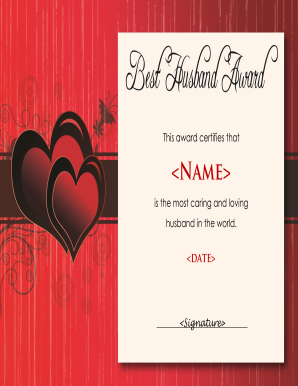 Husband award fill online printable fillable blank pdffiller preview of sample world best husband certificate my pic creator yadclub Image collections