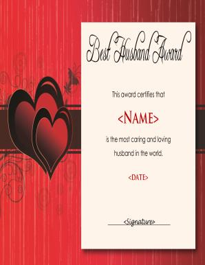 Husband award fill online printable fillable blank pdffiller husband award preview of sample world best husband certificate yadclub Images