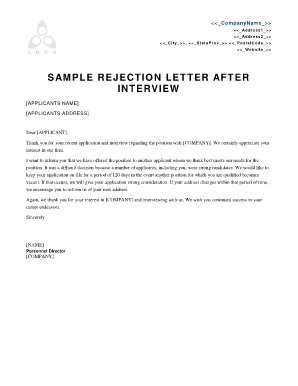 Rejection letter to the principal of a school fill online rejection letter to the principal of a school altavistaventures Images